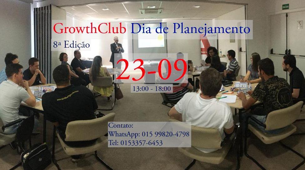 Dia de Planejamento- GrowthClub 8ª Edição