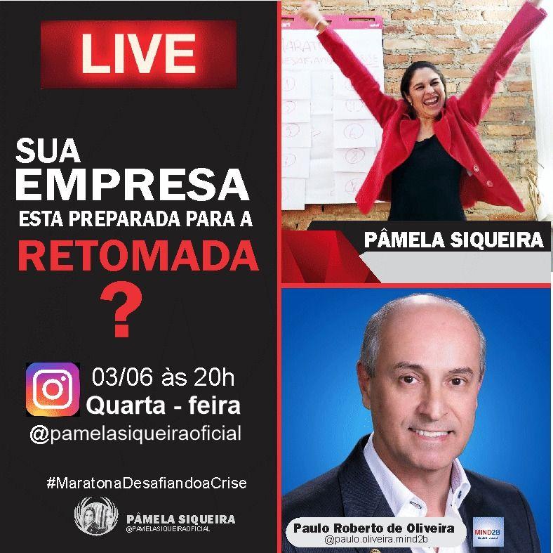 Live Paulo Roberto e Pâmela Siqueira 03 de Junho de 2020