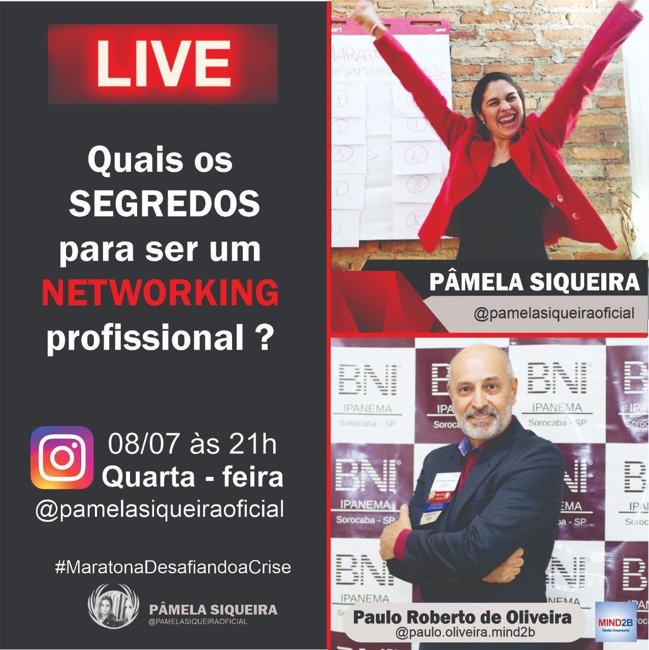 Live Paulo Roberto e Pâmela Siqueira 08 de Julho de 2020